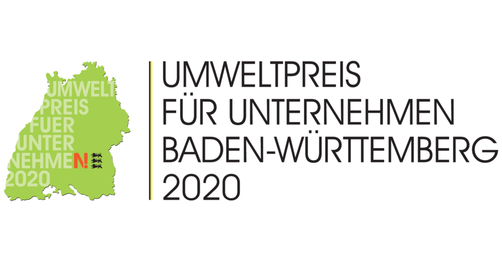 Das Bild zeigt das Logo des Umweltpreises Baden-Württemberg.