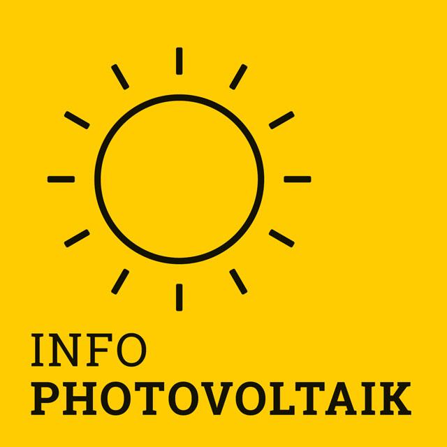 Bild Info Photovoltaik mit Glühbirnen-Icon